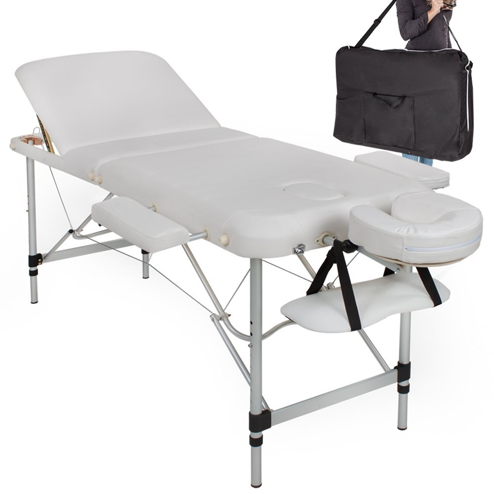 table pliante de massage aluminium blanche