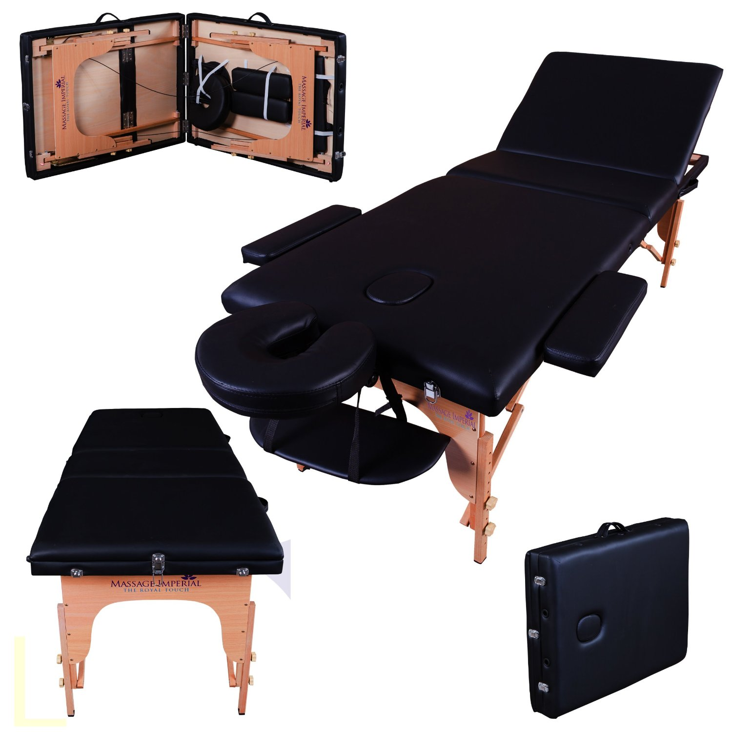 table pliante de massage noire