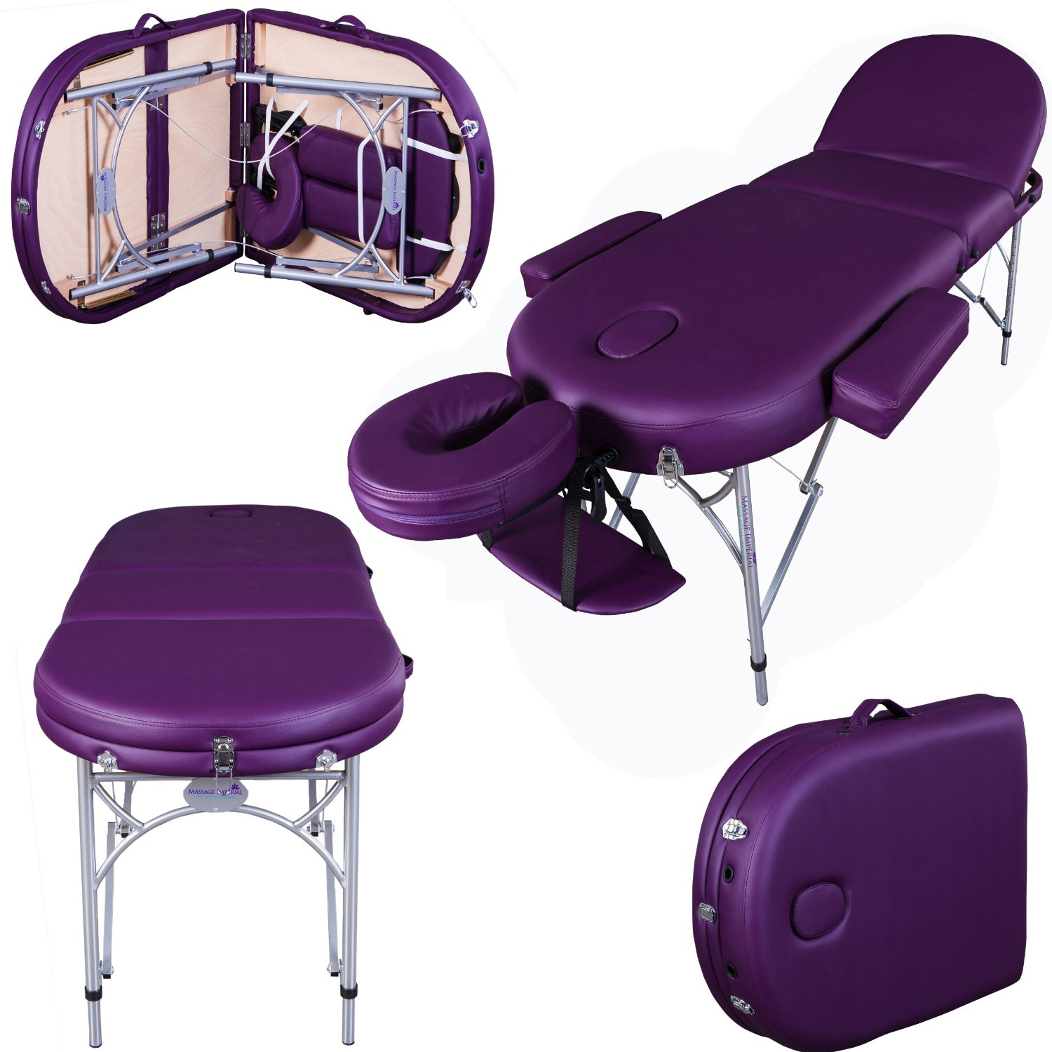 table pliante de massage violette